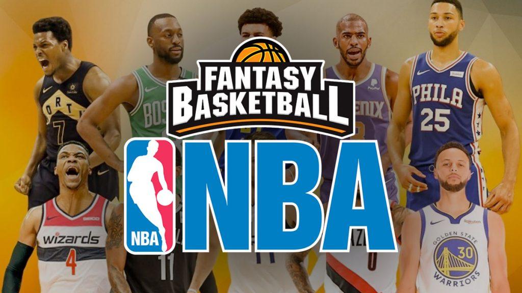 NBA-Logo und Spieler