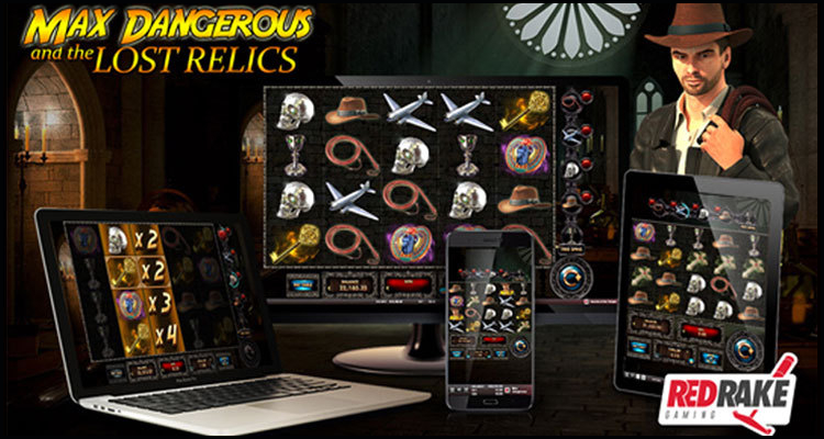 Max Dangerous and the Lost Relics Online-Slot von Red Rake Gaming