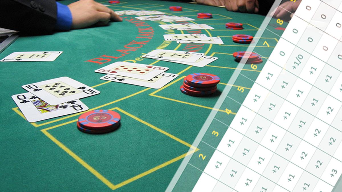 Blackjack-Tisch- und Kartenzählmethode