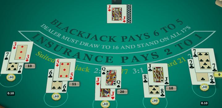 Blackjack 6 bis 5
