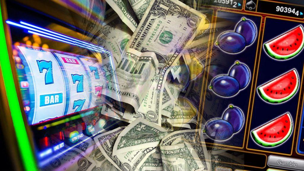 Spielautomaten und US-Geld