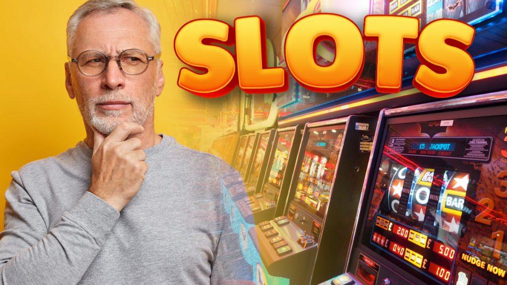 Slot Player neben Slot Machine Games