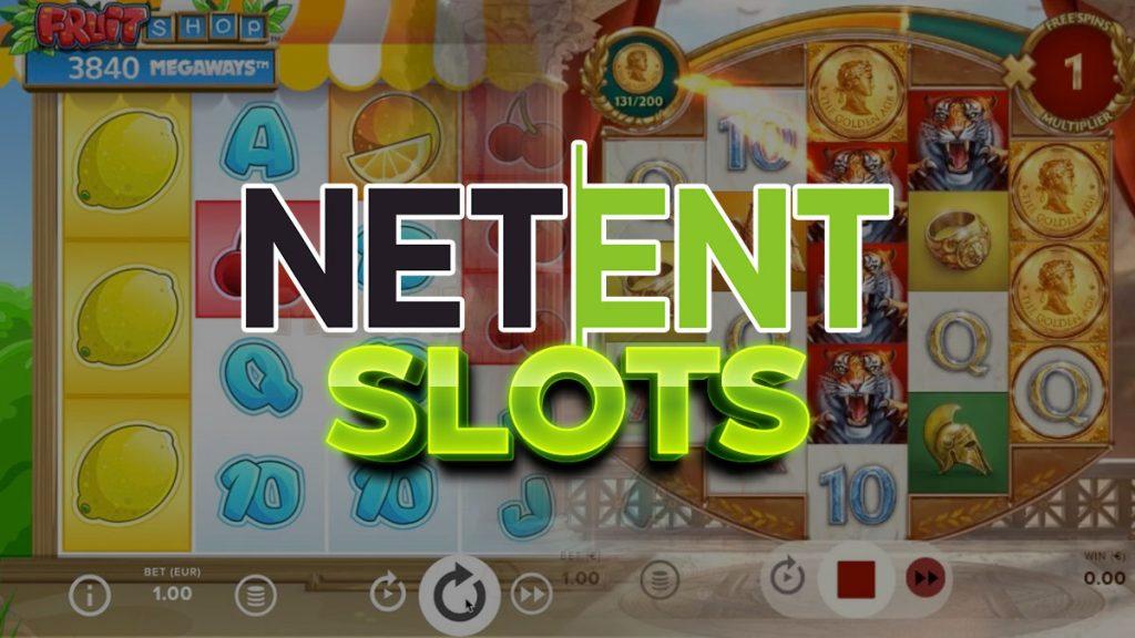NetEnt-Logo und Slot