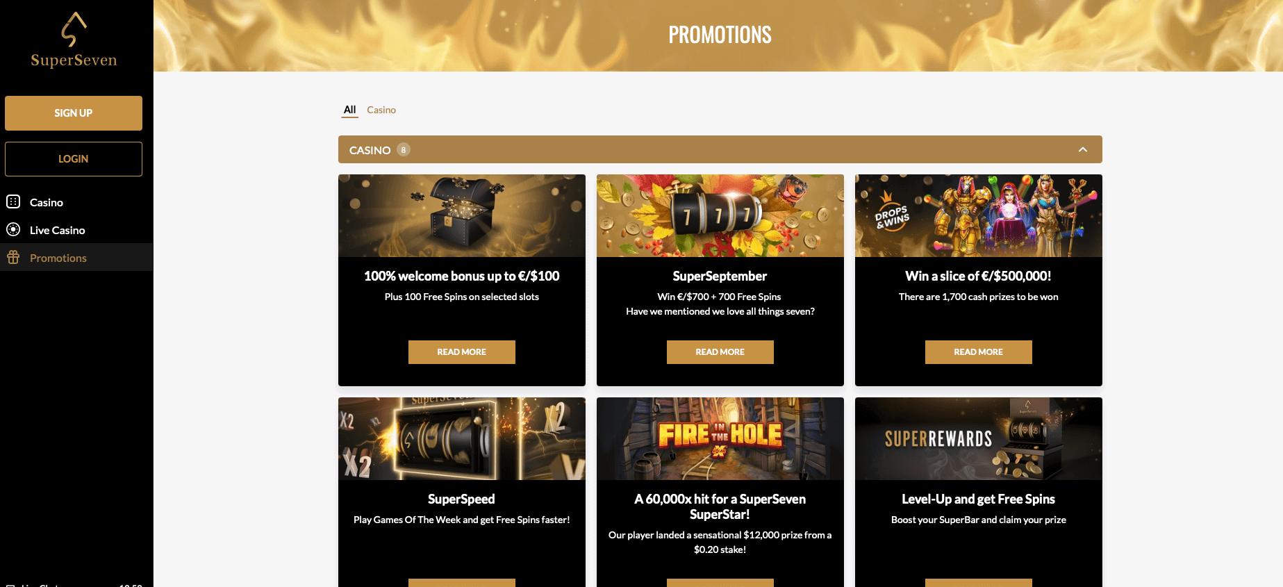 SuperSeven Casino: Kurzer Rückblick - Wöchentliche Slots-News